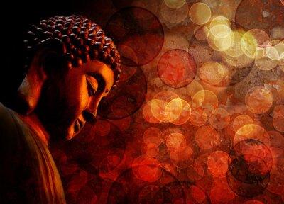 Papiers peints Bronze, rouge, zen, bouddha, statue, méditer