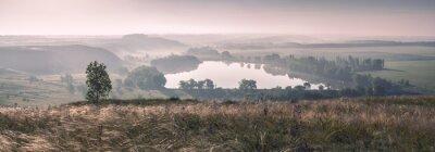 Papiers peints Brume du matin et le lac