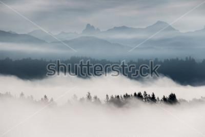 Papiers peints Brumeux, montagne, paysage, dans, colombie britannique, canada