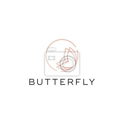 Papiers peints butterfly line logo design