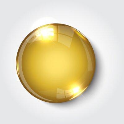Papiers peints Button register  Now  color gold glossy