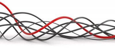 Papiers peints Câbles colorés. Image avec le chemin de détourage.