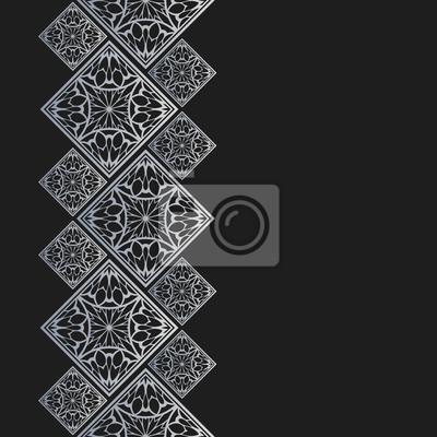 Cadre En Argent De Style Oriental Bordure Transparente Pour Papier