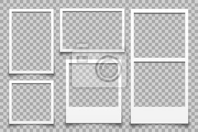 Papiers peints Cadre photo blanc vide - vecteur