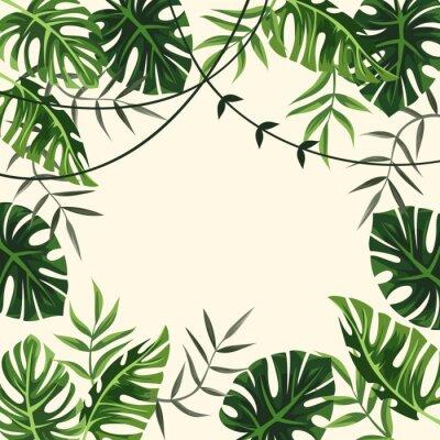 Papiers peints cadre tropical. Contexte. feuillage. illustration vectorielle