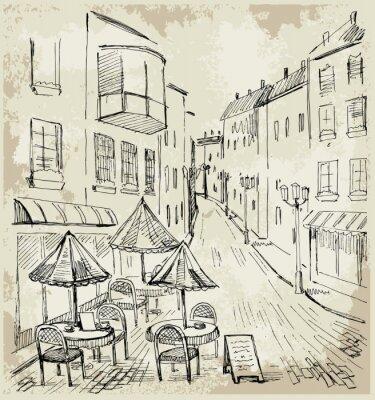 Papiers peints Café de rue