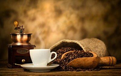 Papiers peints Café espresso, vieux, café, broyeur