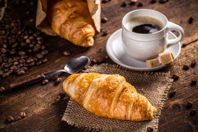 Papiers peints Café et croissant