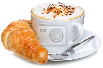 café et un croissant