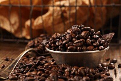 Papiers peints Café, fèves, noir, chocolat, bol, vendange, style