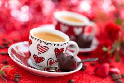 Papiers peints Café pour la Saint-Valentin.