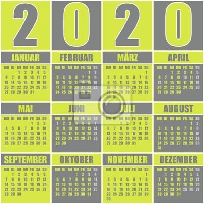 Calendrier Allemand 2020.Papiers Peints Calendrier 2020 Allemand