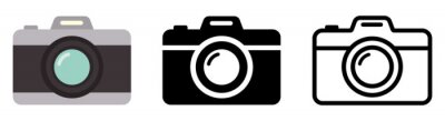 Papiers peints Camera icon set. Photo camera in flat style. Vector