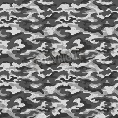 Papiers peints Camouflage noir et blanc avec fond d'effet grunge. Illustration vectorielle