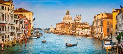 Papiers peints Canal Grande panorama au coucher du soleil, Venise, Italie