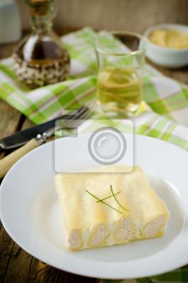 cannelloni avec la Turquie en sauce blanche
