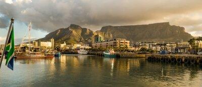 Papiers peints Cape Town, Sudafrica, Bord de l'eau, tramonto, Table Mountain