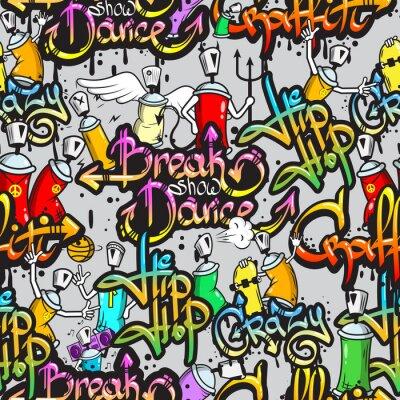 Papiers peints Caractères Graffiti seamless pattern