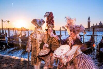 Papiers peints Carnaval, masques, contre, Lever soleil, Venise, Italie