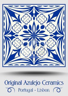 Papiers Peints Carrelage De Poterie Majolica Azulejo Bleu Et Blanc Decor Original