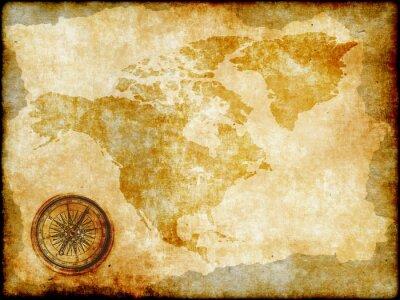 Papiers peints carte cru Amérique du Nord