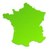 Carte des régions de france en couleur vierge papier peint • papiers peints aquitaine, Alsace ...