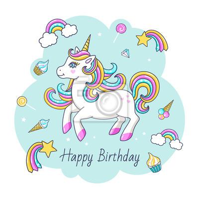 Joyeux anniversaire licorne fumcwhittier - Image licorne ...