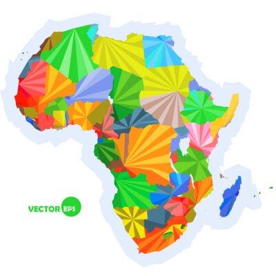 Papiers peints Carte de l'Afrique. Carte de concept avec les pays Carte de l'Afrique coloré, conception de fond abstrait infographic, carte de l'Afrique en origami polygonal illustration vectorielle logo design