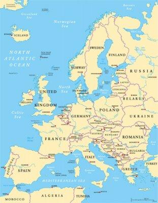 Papiers peints Carte de l'Europe politique