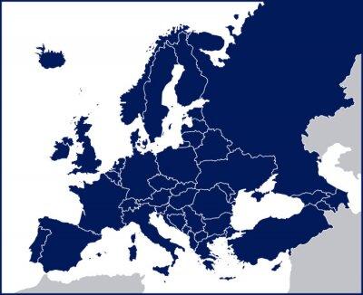 Papiers peints Carte de l'Europe politique Blank