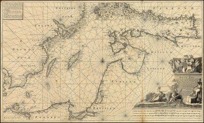 Papiers peints Carte de la mer Baltique