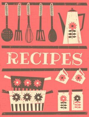 Carte de recette Vintage
