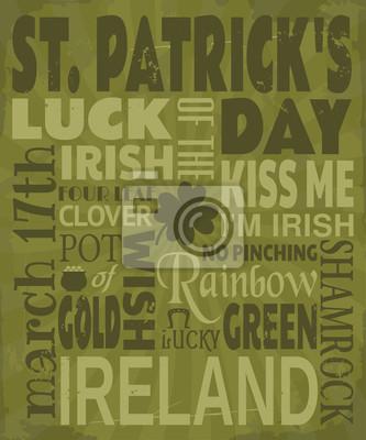 Carte de voeux de la Saint-Patrick