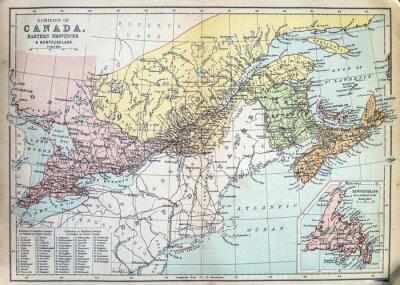 Papiers peints Carte des provinces de l'Est du Canada