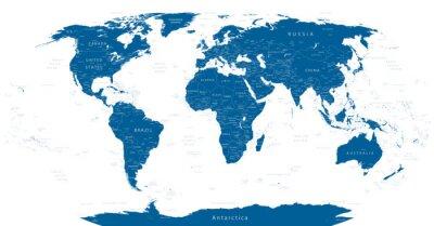 Papiers peints Carte détaillée du monde