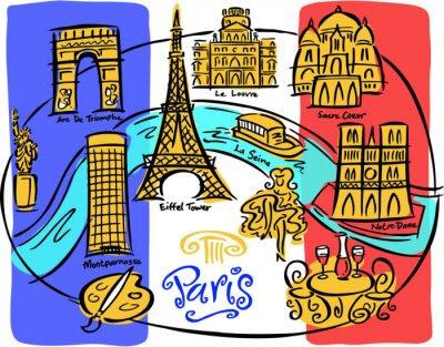 Papiers peints Carte du drapeau de Paris