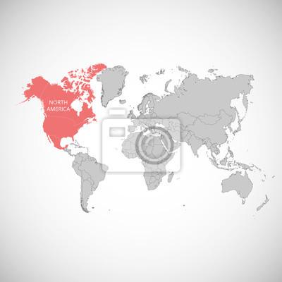 Amérique du nord carte du monde