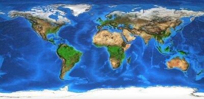 Papiers peints Carte du monde haute résolution et relief