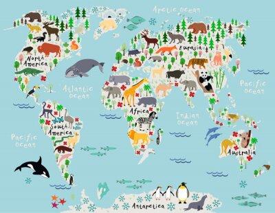 Papiers peints Carte du monde pour enfants et enfants