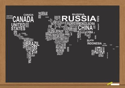 Papier Peint Tableau Noir carte du monde tableau noir papier peint • papiers peints ont été