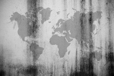 Papiers peints Carte du mur sale