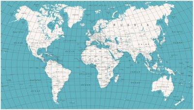 Papiers peints Carte graphique mondiale Vintage vintage politique