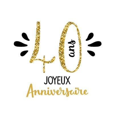 Carte Joyeux Anniversaire 40 Ans Papier Peint Papiers Peints 50 40 30s Myloview Fr