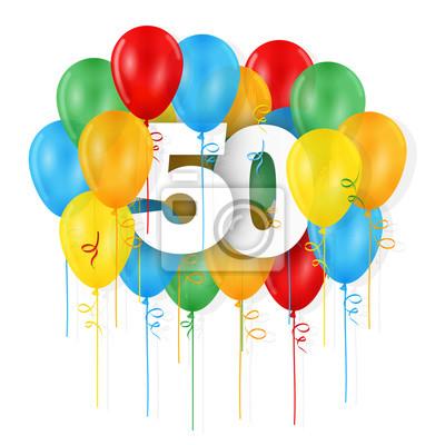 Carte Joyeux Anniversaire 50 Ans Papier Peint Papiers Peints 50 30 40 Myloview Fr