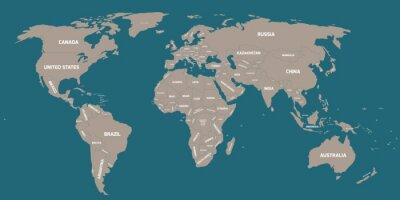 Papiers peints Carte politique du monde