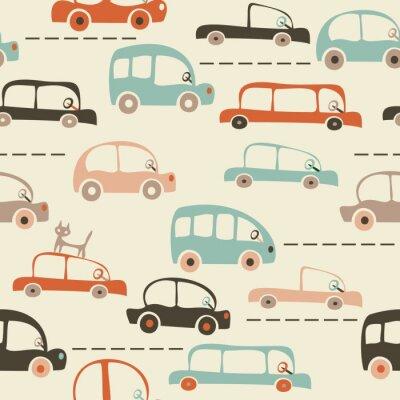 Papiers peints carte transparente de dessin animé de voitures et le trafic