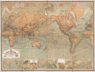 Papiers peints Carte vintage