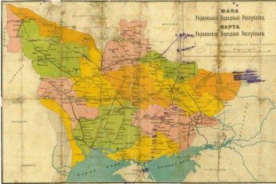 Papiers peints Carte vintage de l'Ukraine