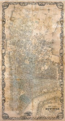 Papiers peints Carte vintage de New York