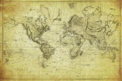 Papiers peints carte vintage du monde 1831